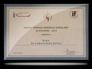 targa impresa femminile 2014